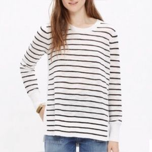 Madewell Sunview Black White Sweater L